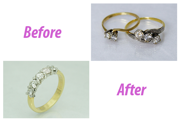 Handmade Wedding Ring Before and After
